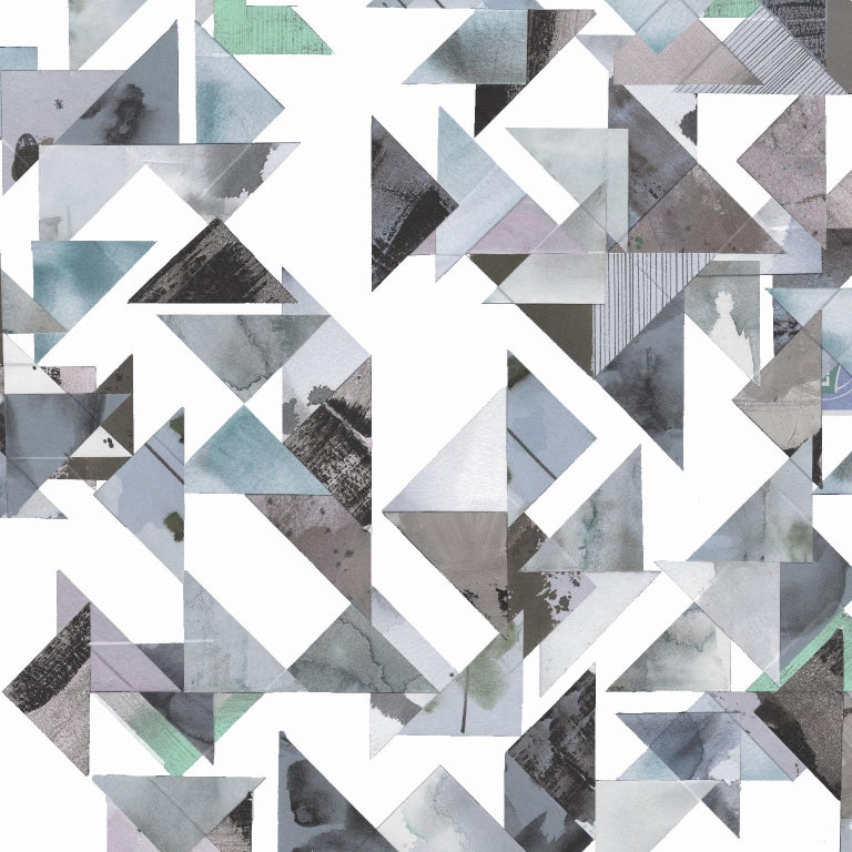 Trade Routes-Geometric Print Wallpaper in Pastel Colorway, on Smooth Paper For Sale