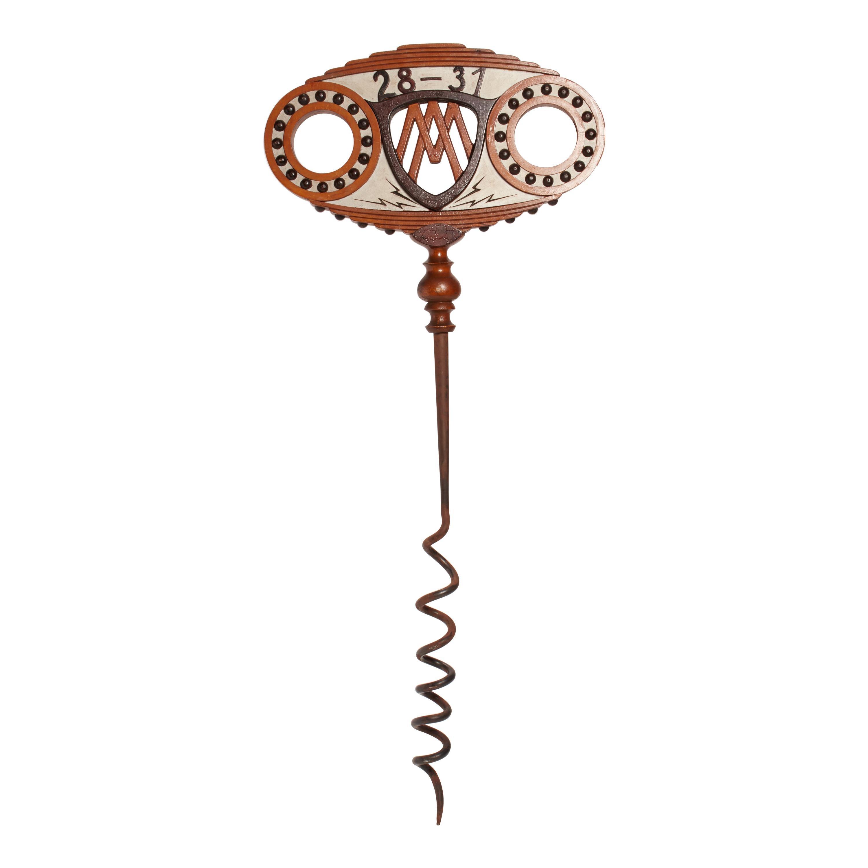Trade Sign Depicting a Huge Corkscrew, France, 1900