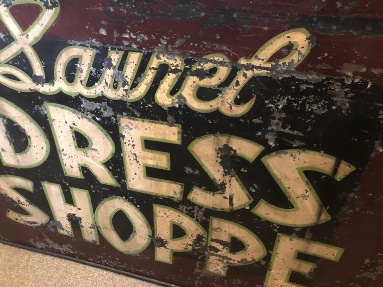 Trade Sign of Tin for Dress Shoppe For Sale 9