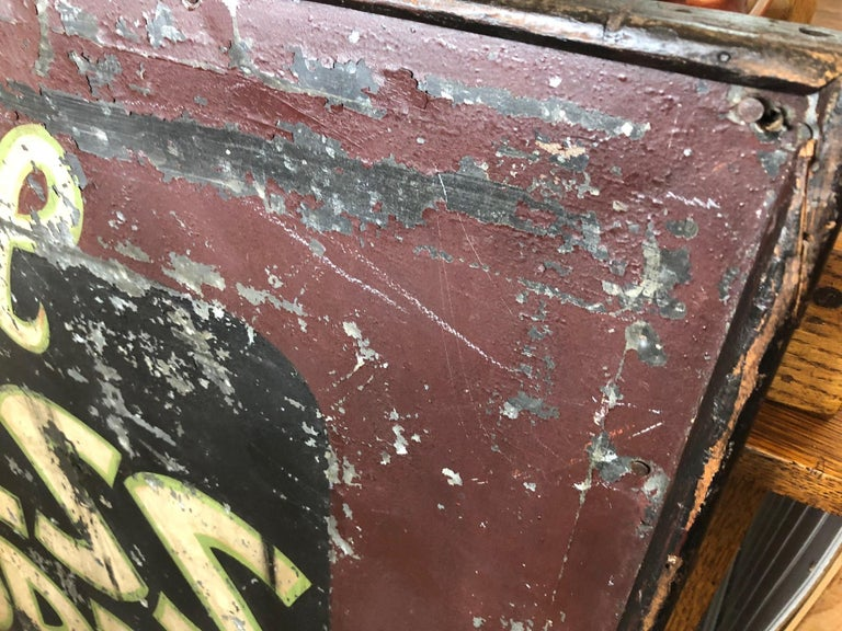 20th Century Trade Sign of Tin for Dress Shoppe For Sale