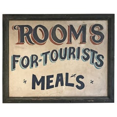 Trade Sign, Rooms or Tourists, Meals