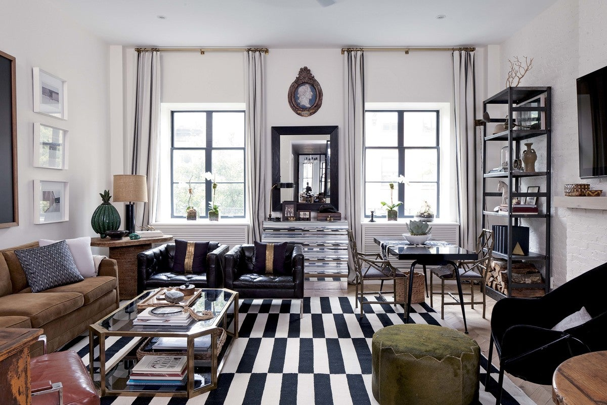 Eclectic Living Room In New York Ny By Nate Berkus Associates