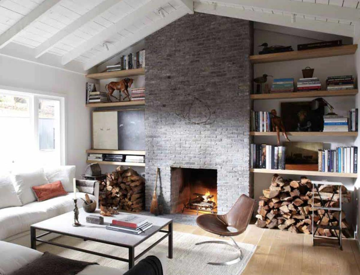Rustic Living Room in Los Angeles, CA by Matt Blacke Inc