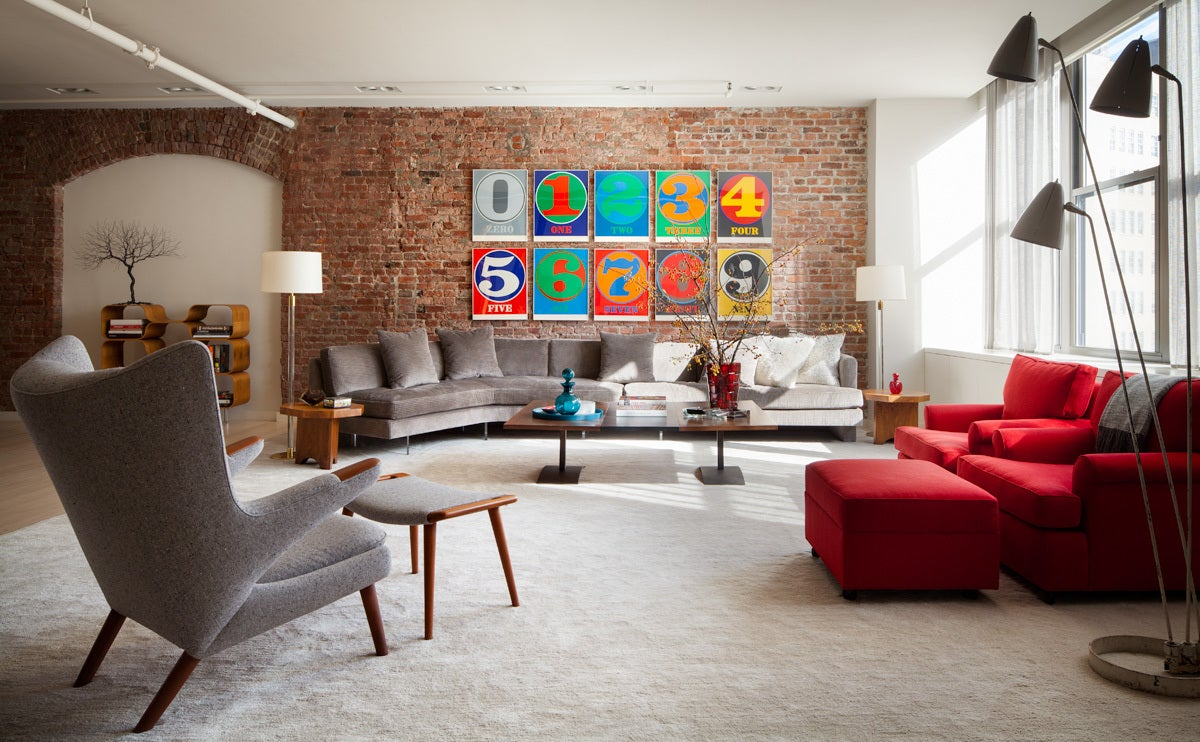 Industrial Living Room In New York NY By Shawn Henderson Interior Design