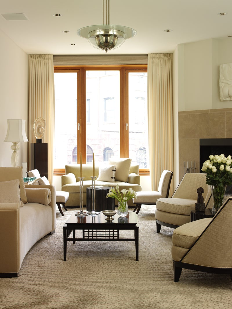 Contemporary Living Room in New York, NY by Richard Mishaan Design