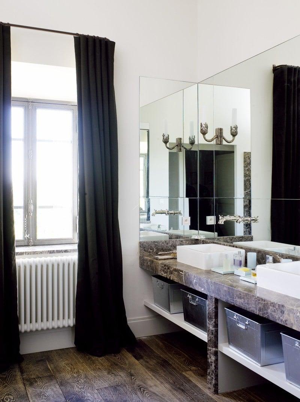 French Bathroom in FR by Samantha Todhunter Design Ltd.