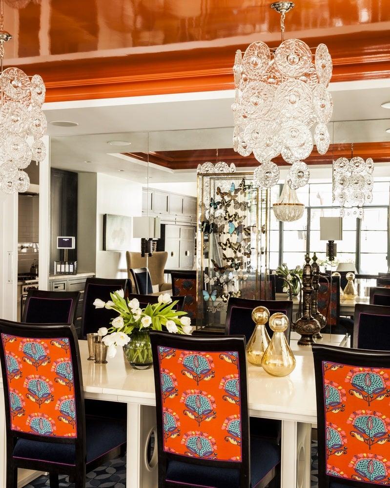 dining room in new york, nysara gilbane interiors
