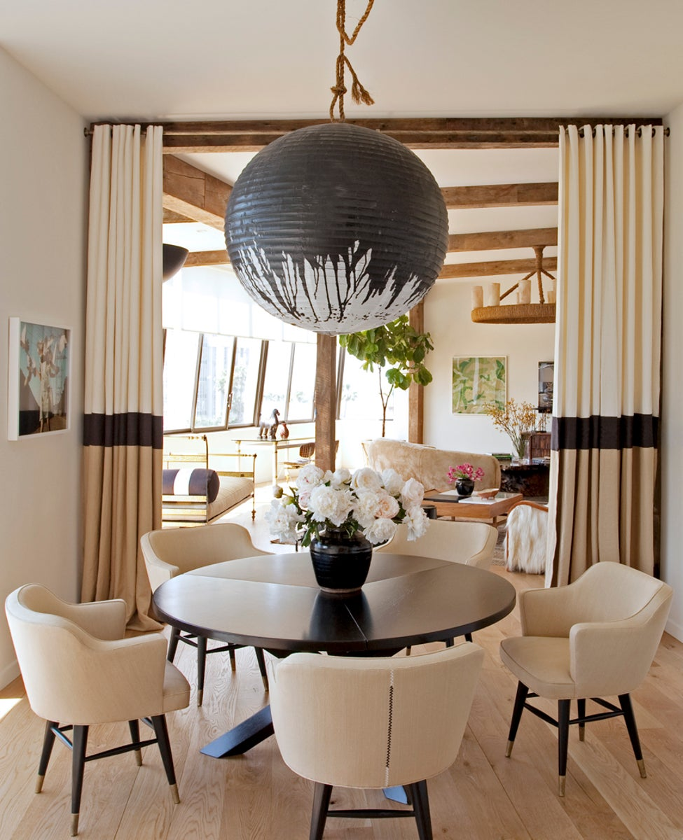 Modern Dining Room in West Hollywood, CA by Trip Haenisch & Associates