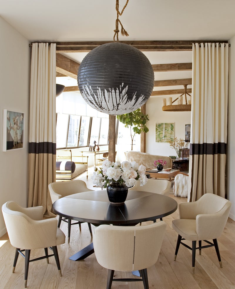 Modern Dining Room in West Hollywood, CA by Trip Haenisch & Associates