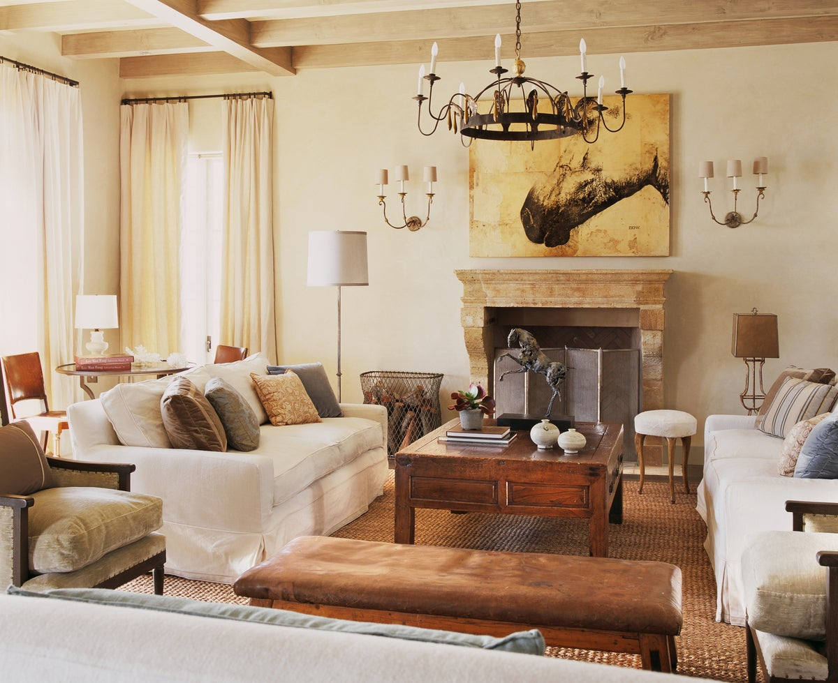 Beach Style Living Room in Malibu, CA by Madeline Stuart