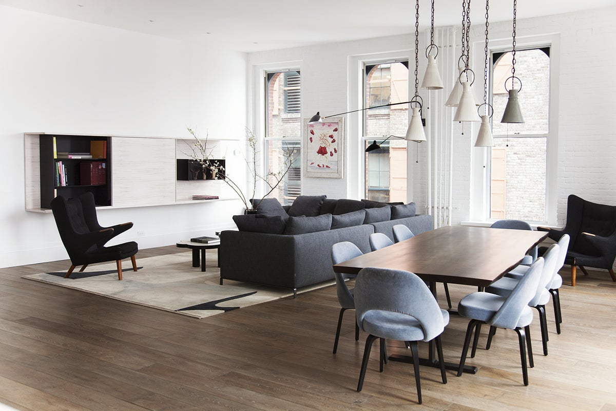 Contemporary Dining Room in New York, NY by Ashe + Leandro