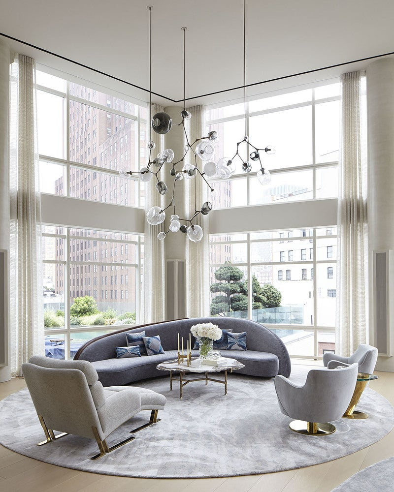 Contemporary living room in new york ny by amy lau design for The family room troy ny