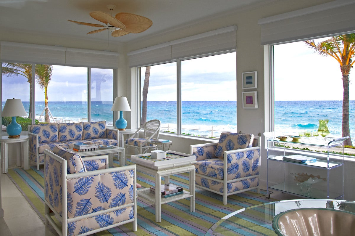 Interior decorating living room - Sunroom Beach Style Living Room In Palm Beach Fl By Jan