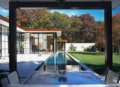 Modern Living Room In East Hampton Ny By Michael Haverland Architect