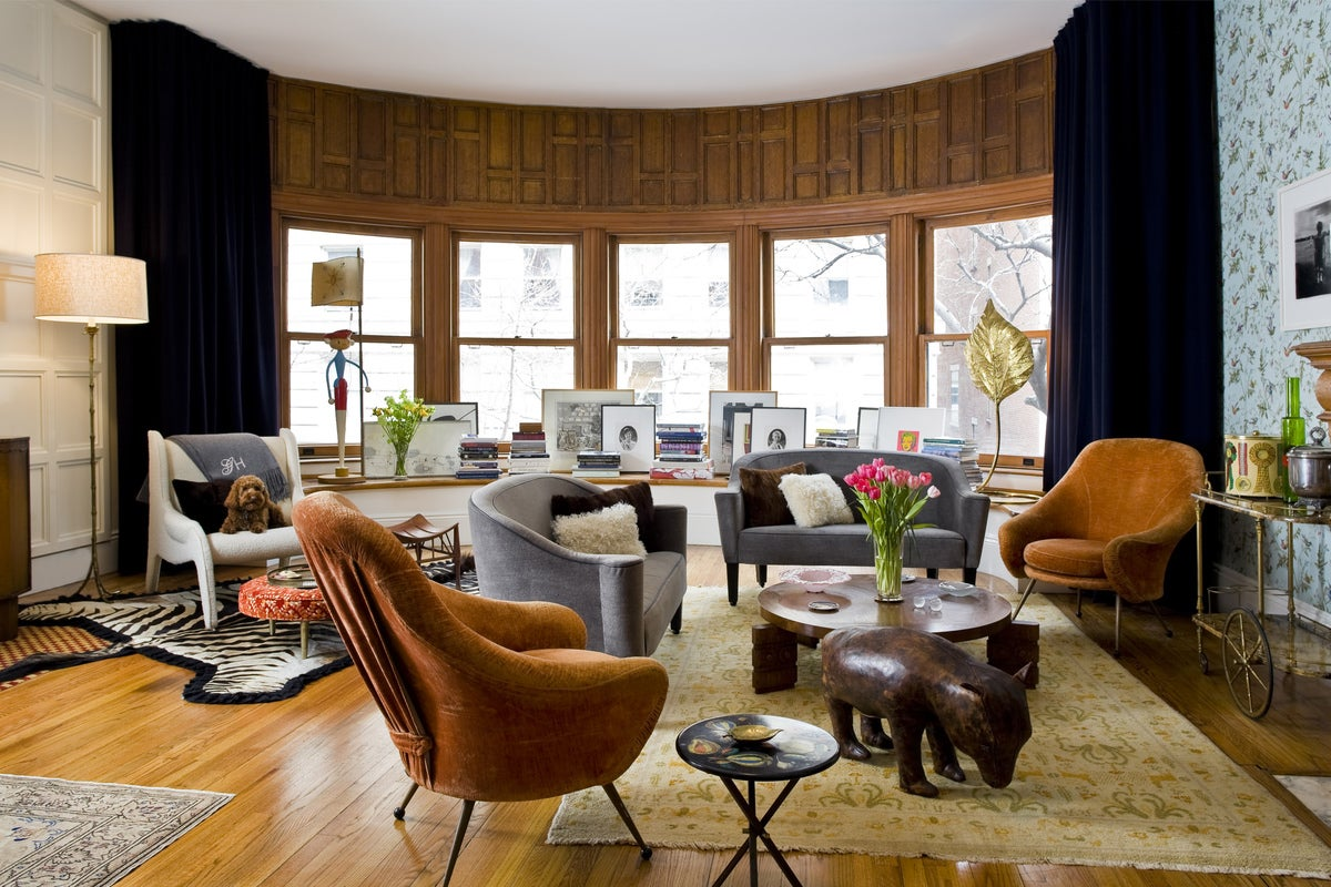 Modern living room in new york ny by michael haverland for Modern living room nyc