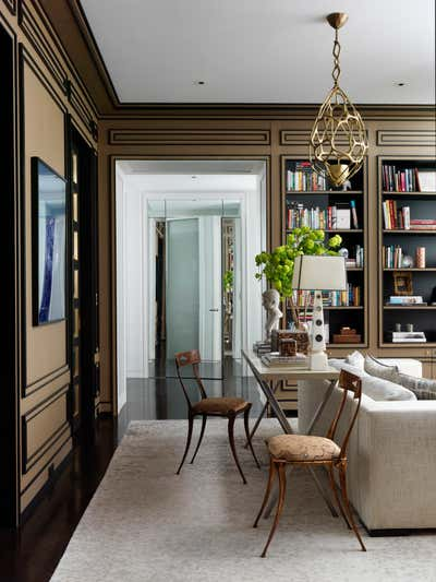 Modern Office and Study. 5th Avenue Apartment by Jean-Louis Deniot.