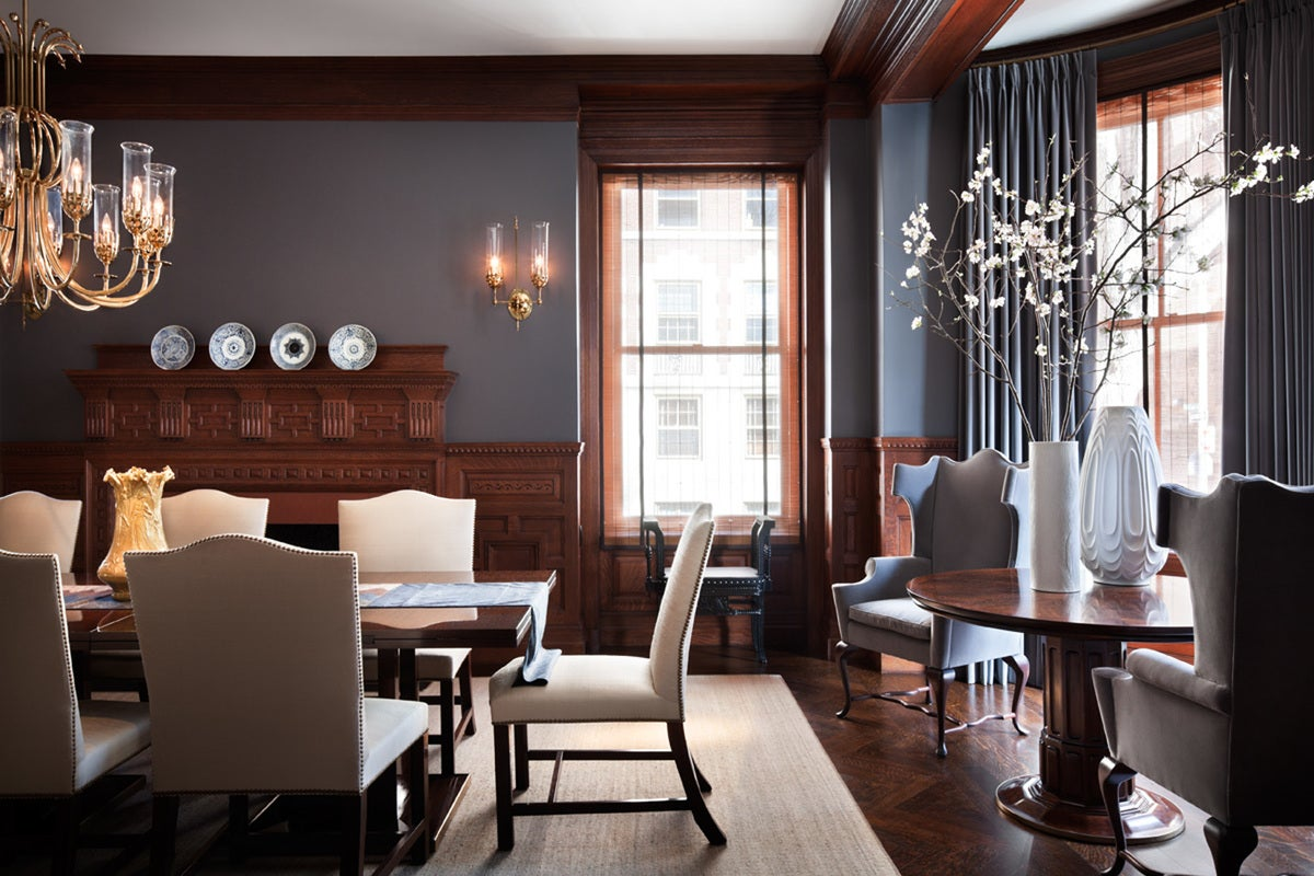 Transitional Dining Room In Boston MA By Thad Hayes