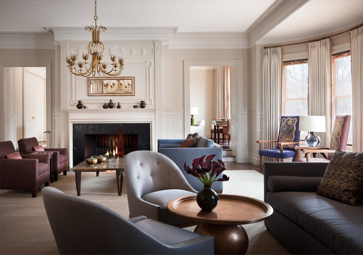 Transitional Living Room In Boston MA By Thad Hayes