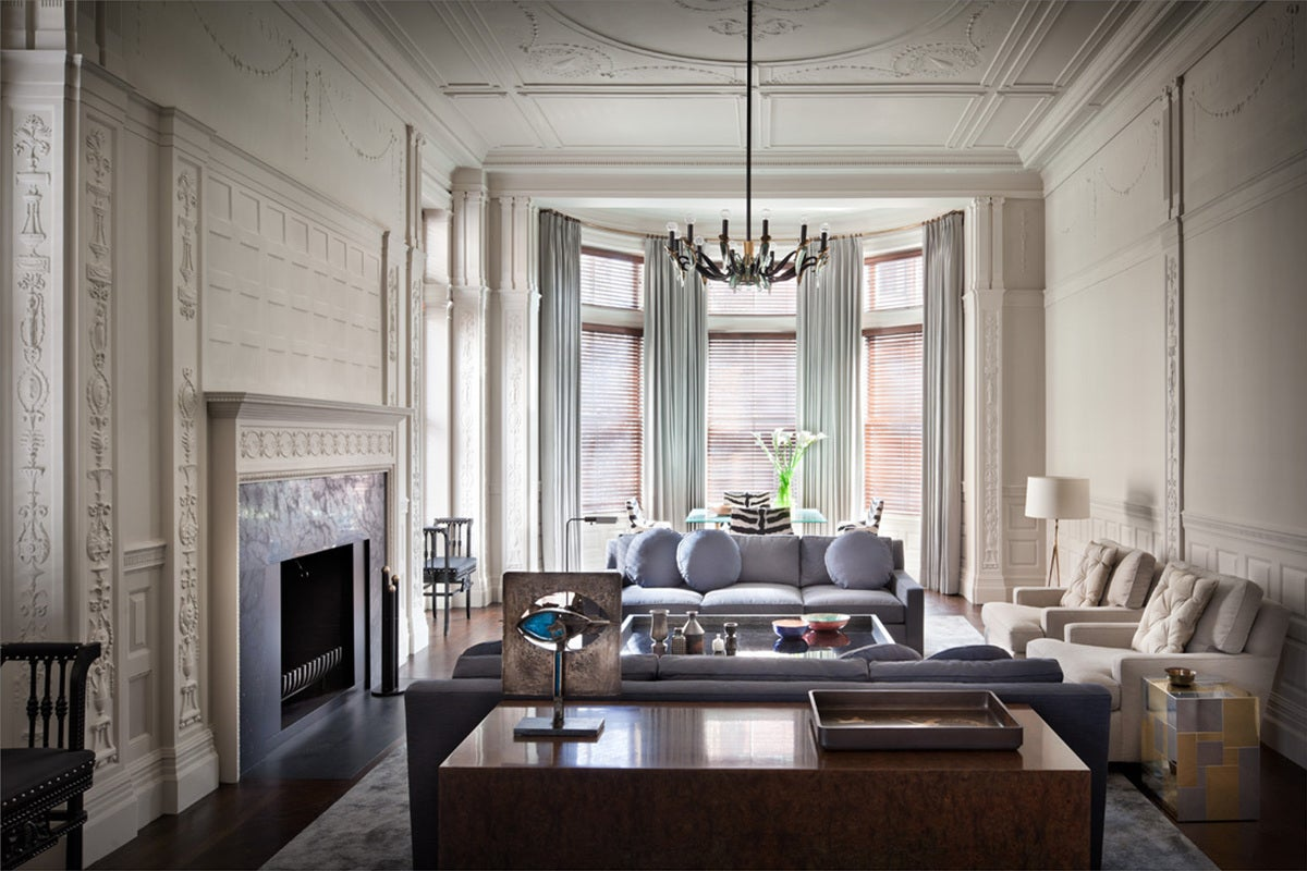 Transitional Living Room In Boston, MA By Thad Hayes