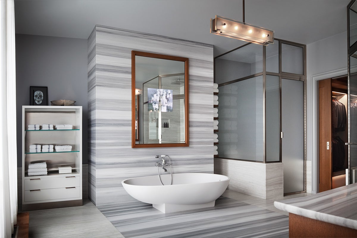 Contemporary bathroom in new york ny by thad hayes for Bathroom york