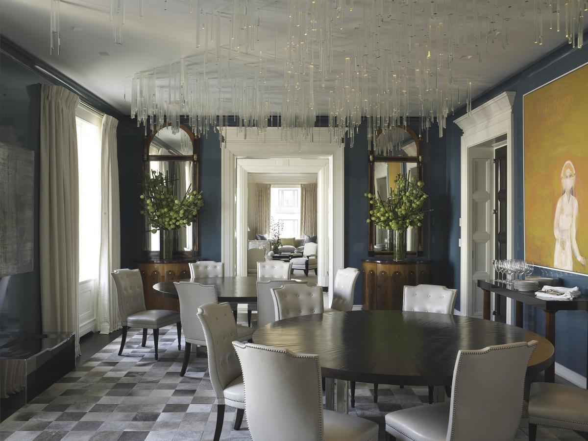 Regency dining room in new york ny by david kleinberg for Regency dining room