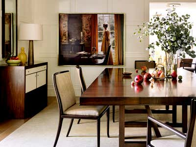 Contemporary Dining Room. Pacific Palisades Residence by Barbara Barry Incorporated.