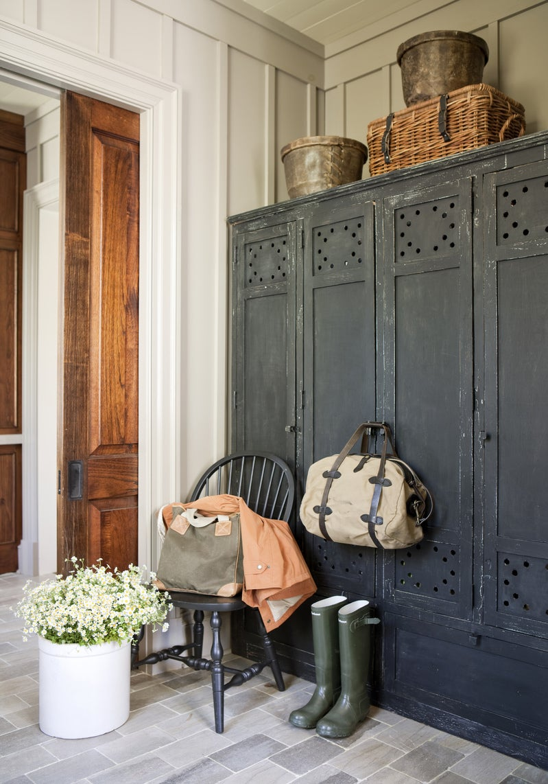 Farmhouse Entry and Hall in Knoxville, TN by Suzanne Kasler Interiors