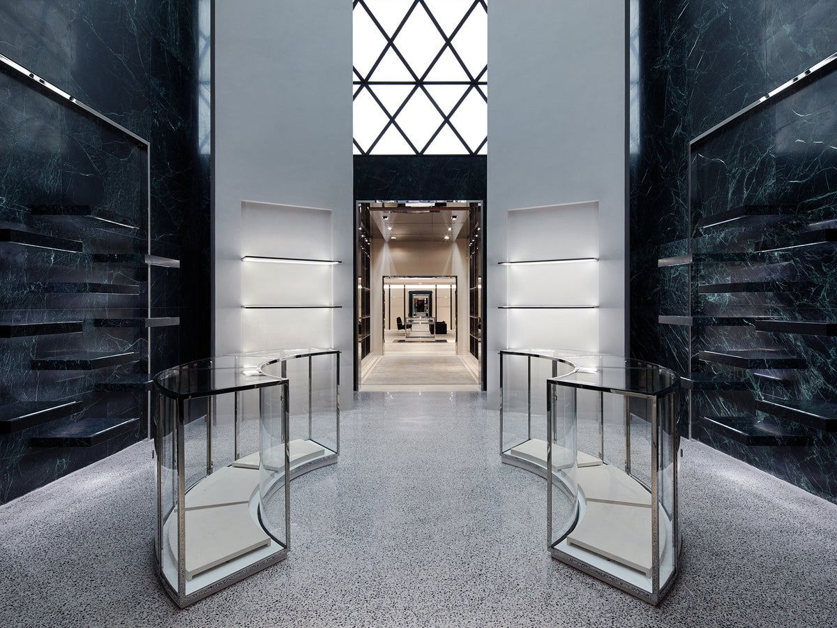 Balenciaga women 39 s new york flagship store by ryan korban for Retail interior design firms nyc