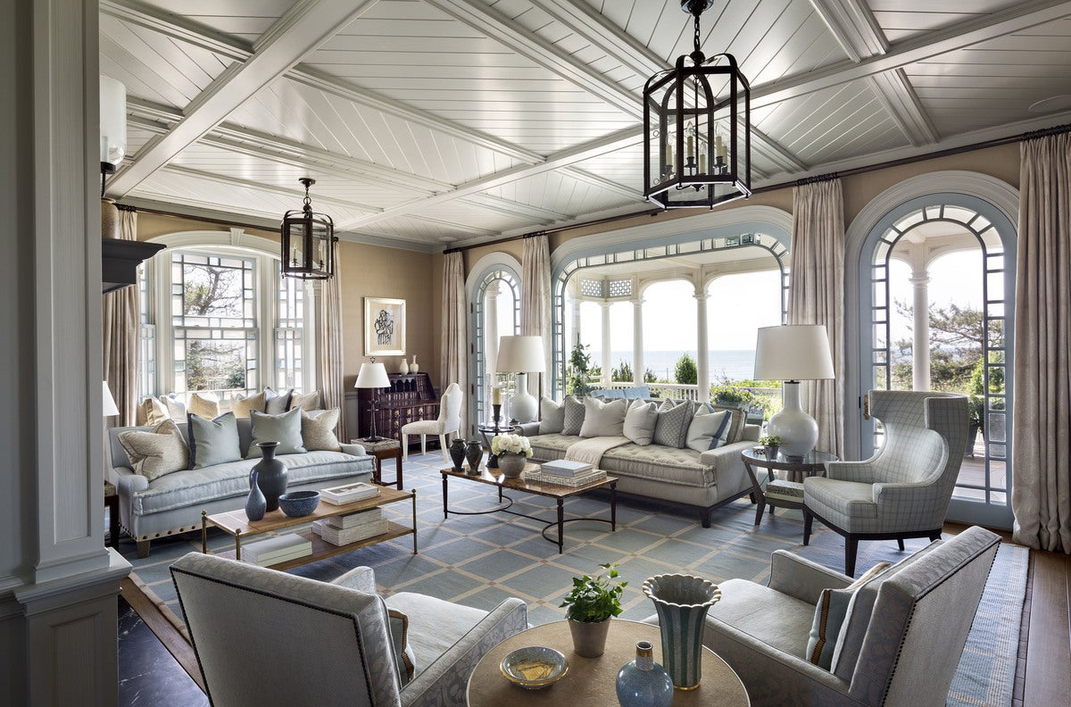 Coastal Living Room In East Quogue Ny By Robert A M Stern Architects