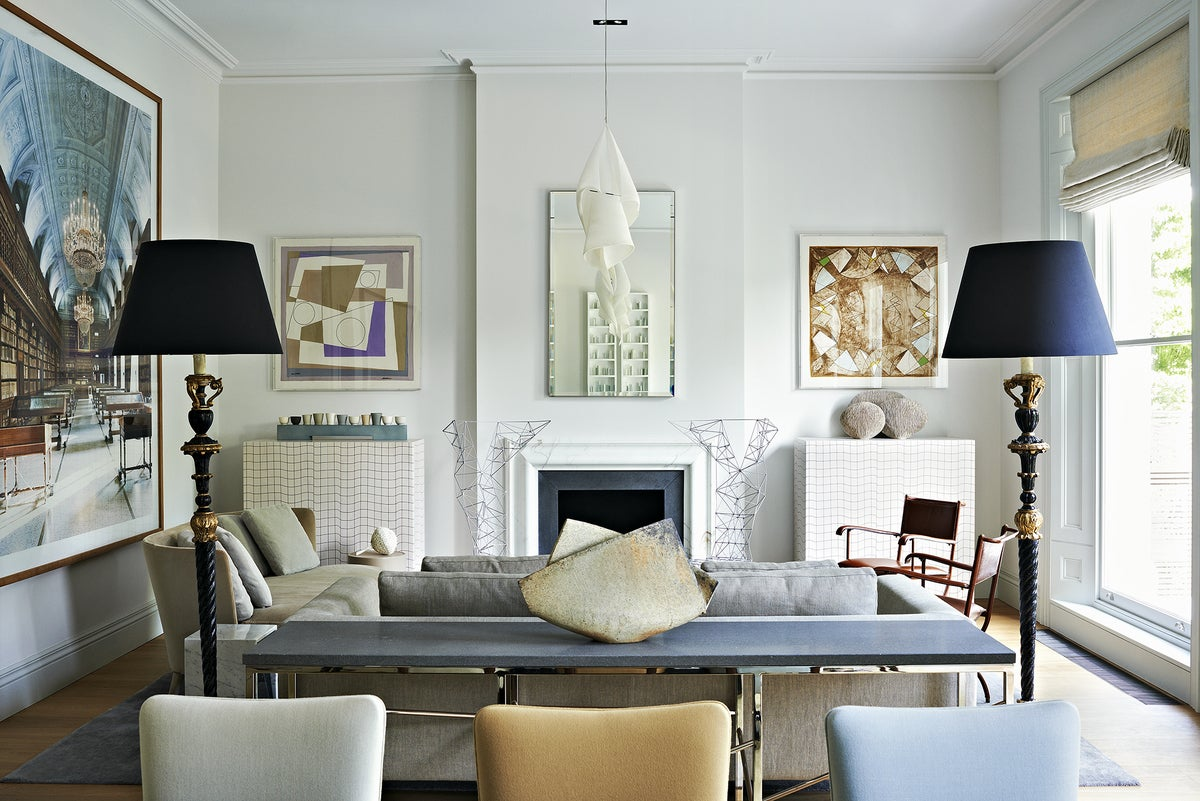 A gallery like home for an art collector couple by waldo for Famous interior designers nyc