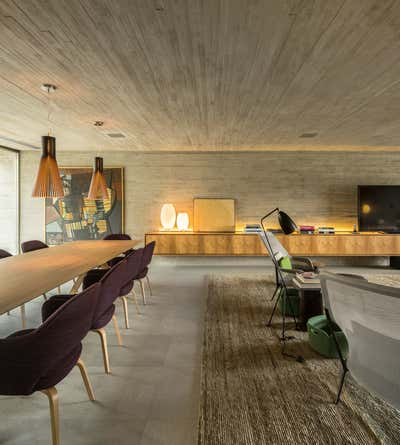 Contemporary Dining Room. B + B House by Studio MK27.