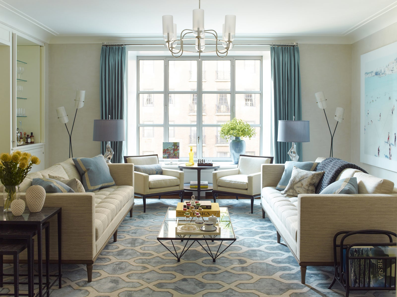 Living Room in New York, NY by Mendelson Group
