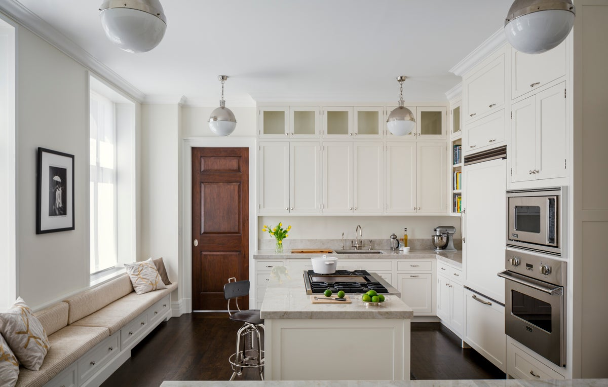 Transitional Kitchen in New York, NY by 2Michaels