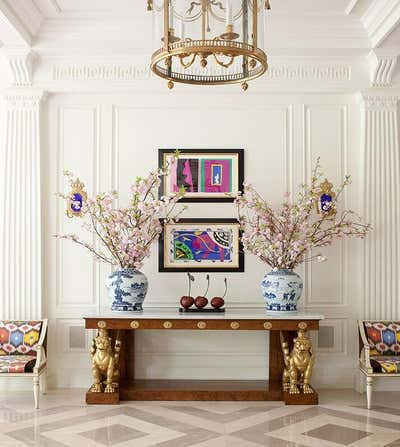 Transitional Entry and Hall. Dallas Residence by Kirsten Kelli, LLC.