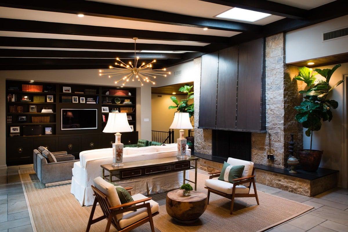Contemporary Living Room In San Antonio Tx By M Interiors