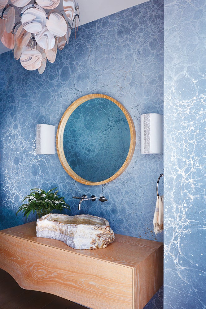 Powder Room By Amy Kartheiser Design: Contemporary Bathroom In Water Mill, NY By