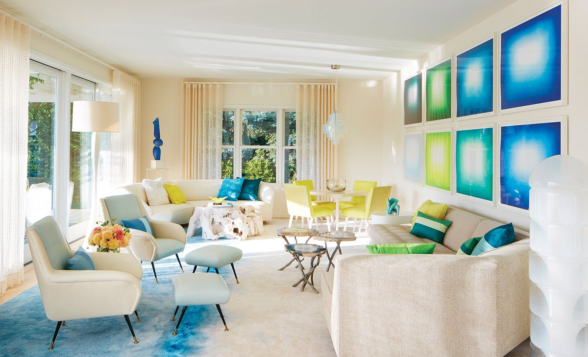 Coastal living room in water mill ny by amy lau design for The family room troy ny