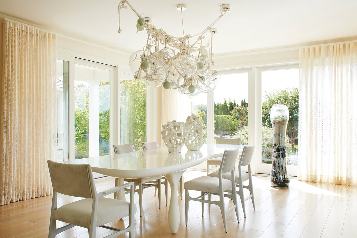 Contemporary Dining Room In Water Mill Ny By Amy Lau Design