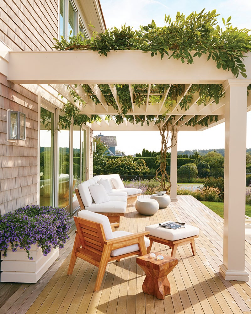 Pool Terrace Coastal Patio And Deck In Water Mill Ny By