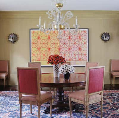 Transitional Dining Room. Park Avenue Prewar by Timothy Whealon Inc..