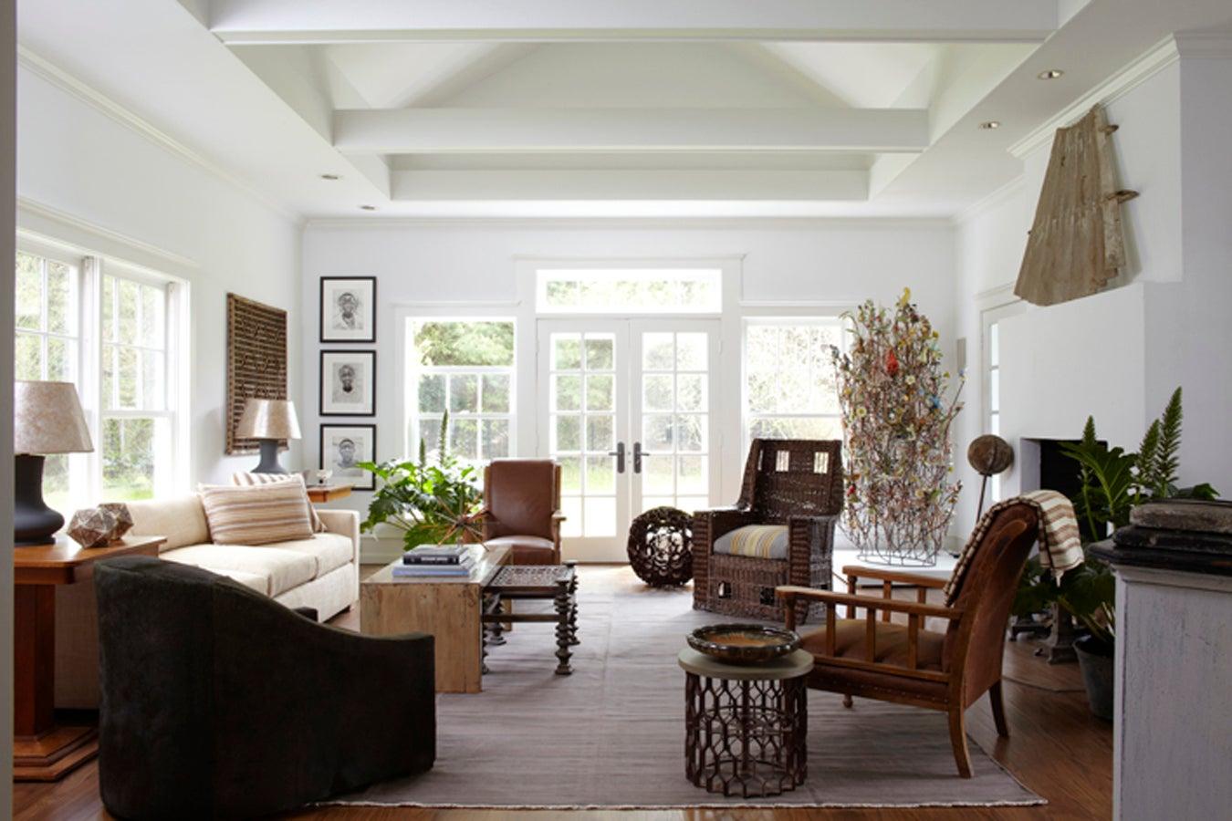 stunning east hampton living room design | Living Room by Huniford Design Studio on 1stdibs