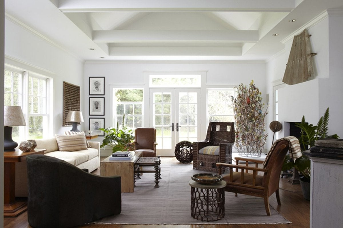 Beach Style Living Room In East Hampton Ny By Huniford Design Studio