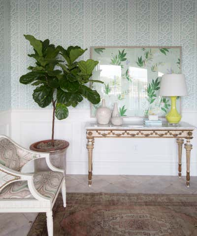 Healthcare Entry and Hall. Chic Dental Office by Summer Thornton Design .