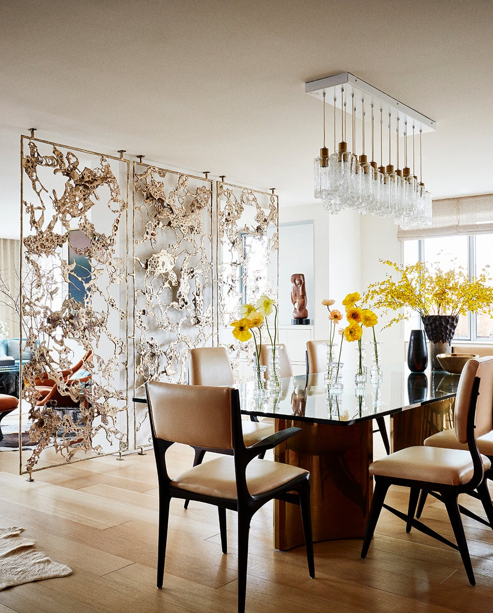 Mid-Century Modern Dining Room in New York, NY by Amy Lau Design