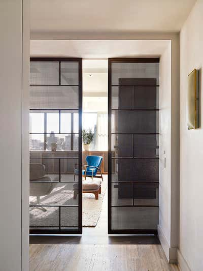 Modern Entry and Hall. Gramercy Park Penthouse by Fox-Nahem Associates.