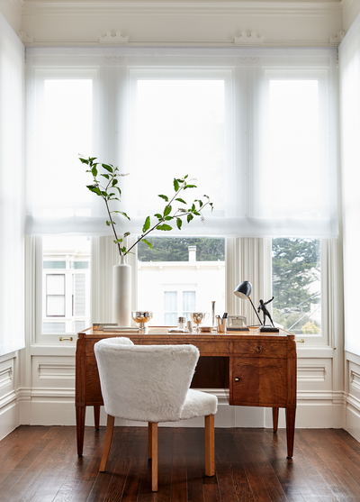 Eclectic Office and Study. Pacific Heights by Vaughn Miller Studio.