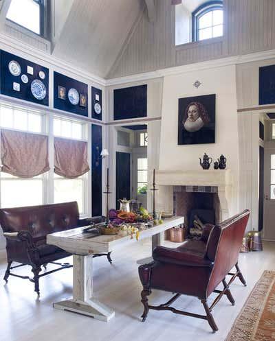 Farmhouse Dining Room. Beach House by Alexandra Loew, Inc..