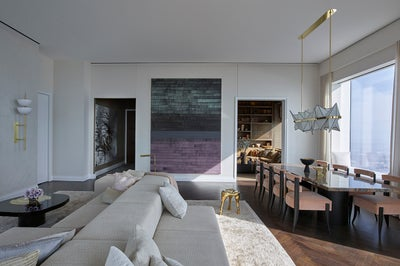Park ave penthouse by kelly behun studio for Kelly behun studio