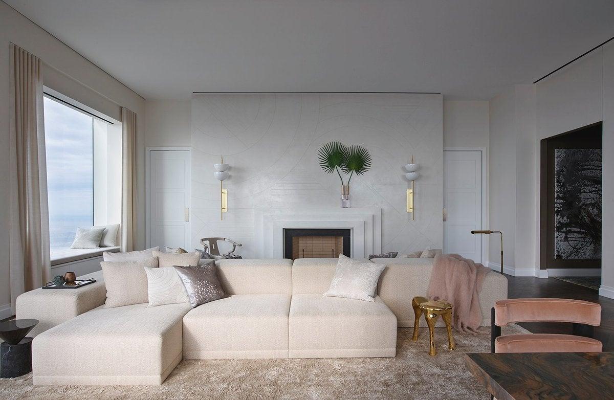 Living room modern living room in new york ny by kelly for Kelly behun studio