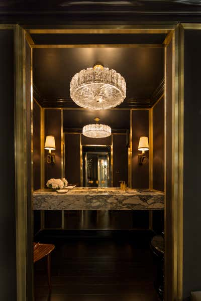 Transitional Bar and Game Room. Kips Bay Decorator Show House 2017 by Craig & Company.